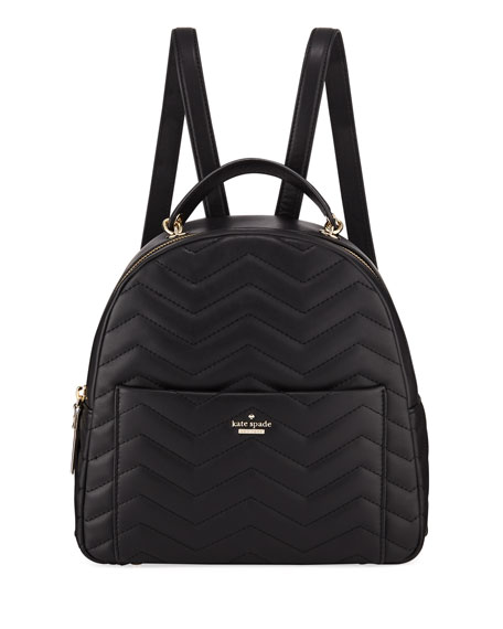 KATE SPADE Reese Park - Ethel Leather Backpack - Black