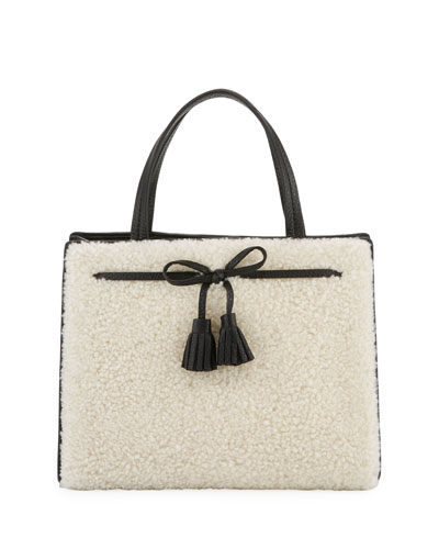 hayes street sam shearling satchel bag