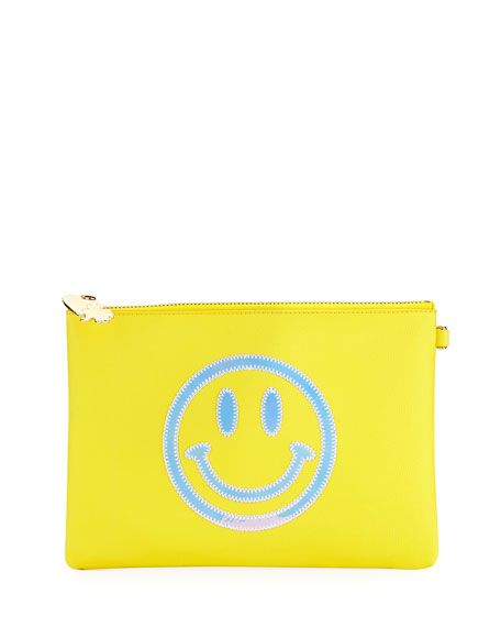Small Smiley Face Flat Pouch