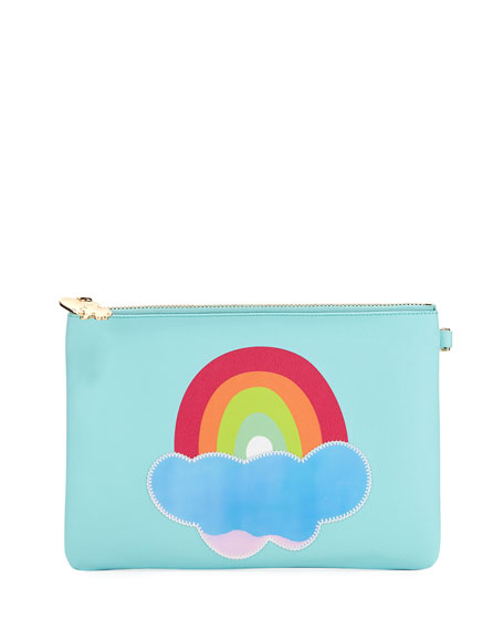 Small Rainbow Flat Pouch