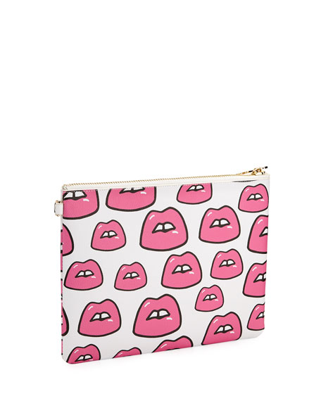 Small Lips Flat Pouch