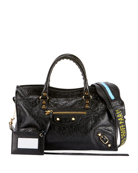 Balenciaga Classic City AJ Small Leather Satchel Bag