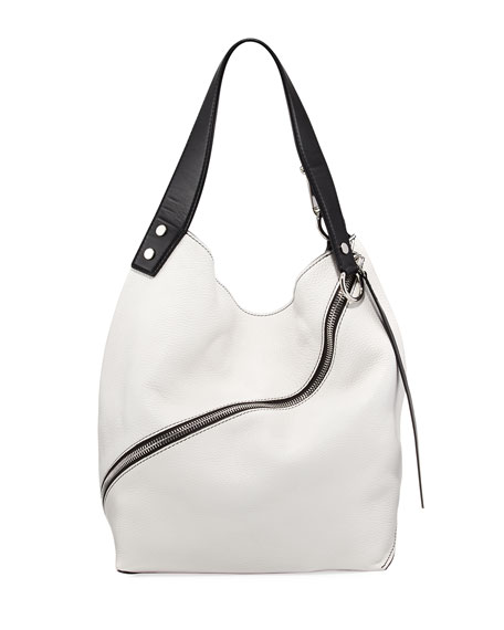Medium Grain Leather Hobo Bag