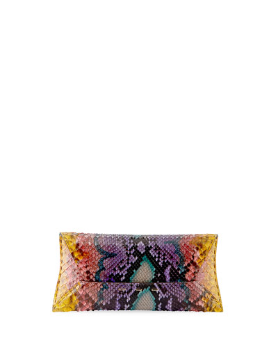 Manila Stretch T Colorful Python Clutch Bag