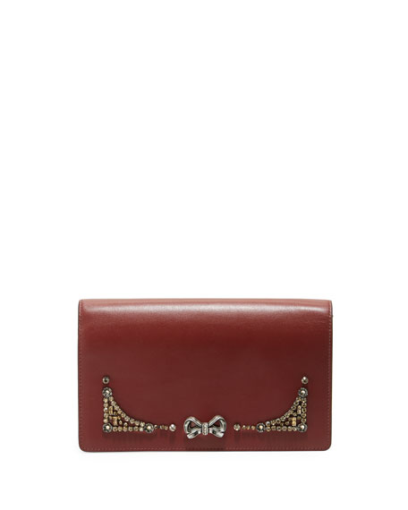Coach x Selena Gomez Crystal-Embellished Crossbody Bag