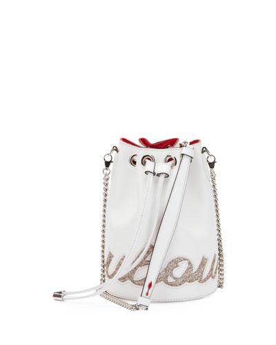 Marie Jane Paris Glitter Calf Bucket Bag