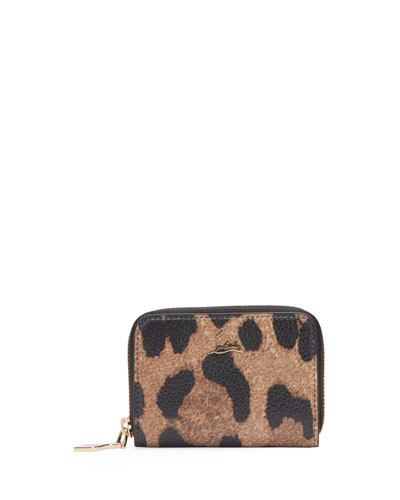 Panettone Leopard-Print Leather Coin Purse