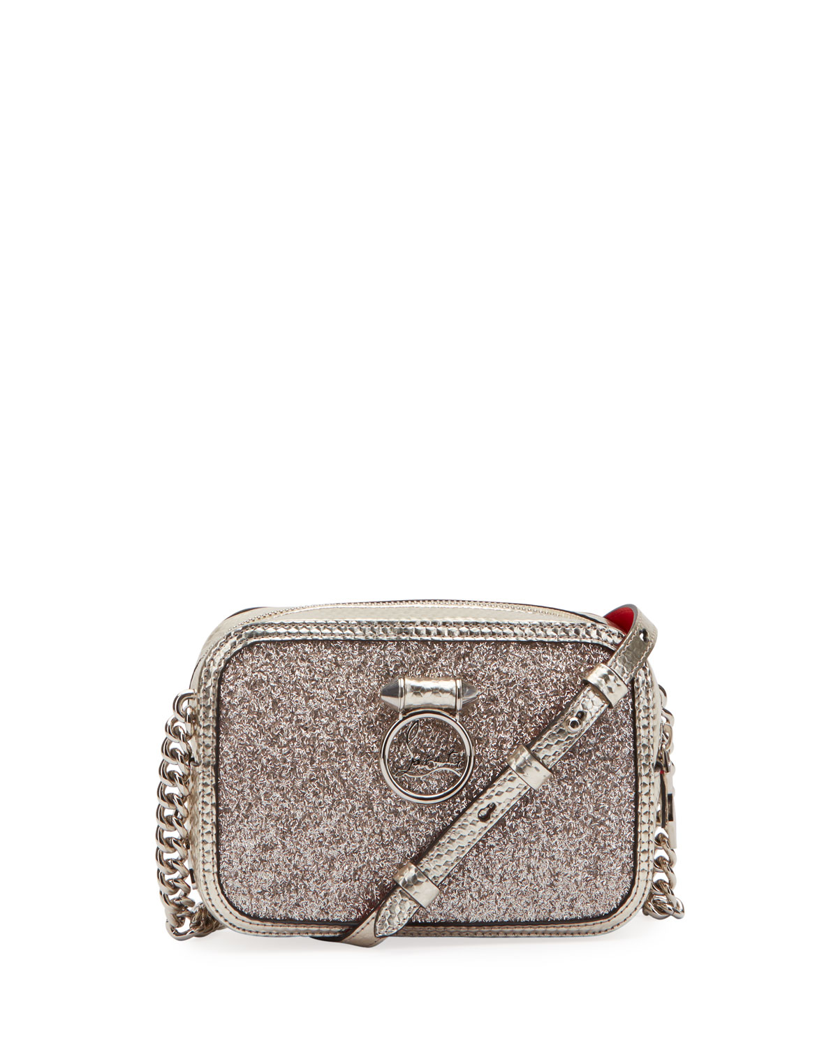 c2526ec5c3f RubyLou Mini Glitter Cubiste Crossbody Bag