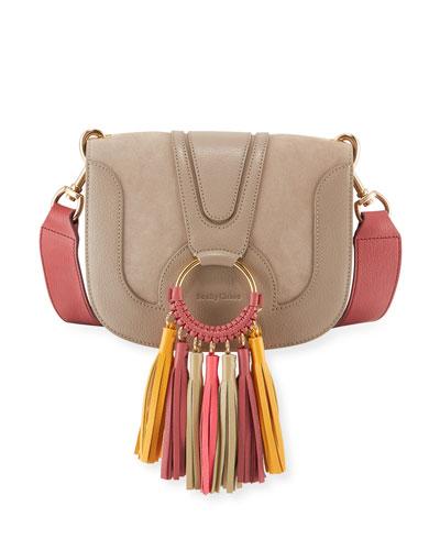 Hana Medium Shoulder Bag with Colorful Tassels