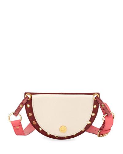 Kriss Colorblock Leather Belt Bag/Fanny Pack