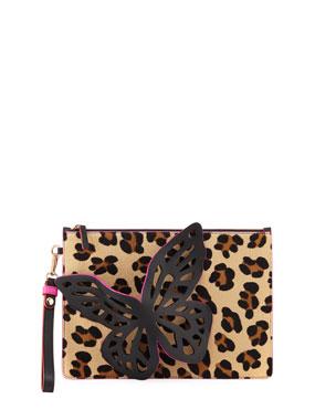 0ed8037f5bb4 Sophia Webster Flossy Glitter Butterfly Pochette Clutch Bag