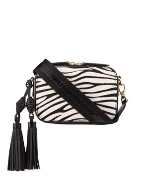 32fdfc97edee Rafe Sophie Snakeskin   Zebra Calf-Hair Crossbody Camera Bag. Favorite