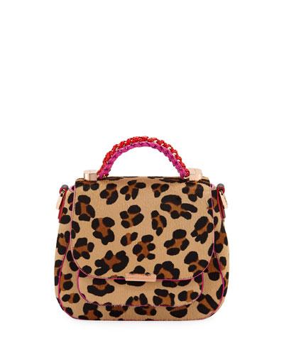 Eloise Leopard-Print Crossbody Bag