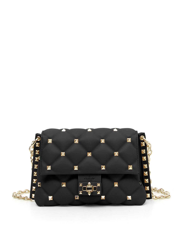 f023b47a2cb Valentino Garavani Candystud Small Leather Crossbody Bag   Neiman Marcus