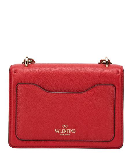 VALENTINO Leathers UPTOWN SMALL VLTN LEATHER SHOULDER BAG