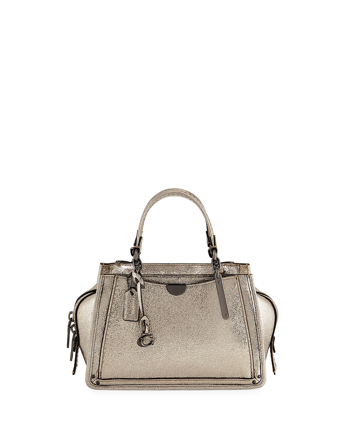 Coach 1941 Dreamer 21 Metallic Tote Bag  beb692597237e