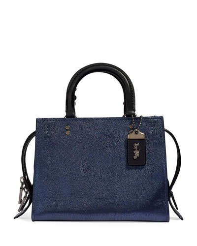 Rogue 25 Metallic Leather Tote Bag with Exotic Detail