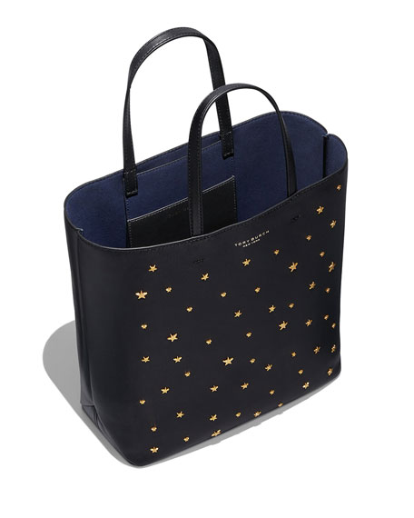 TORY BURCH Leathers SMALL STAR STUD LEATHER TOTE BAG