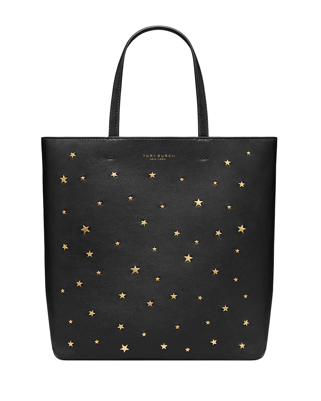 d76537ef5db Tory Burch Small Star Stud Leather Tote Bag