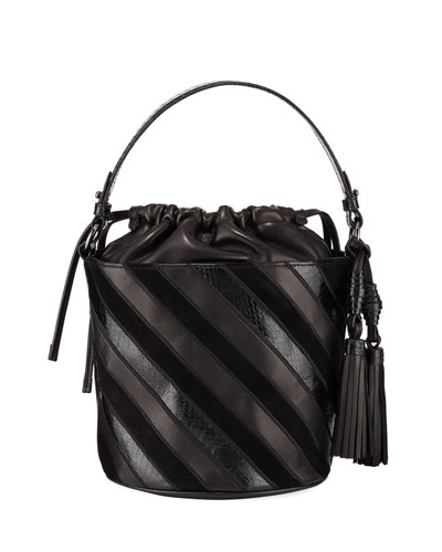 Katrina Striped Bucket Bag