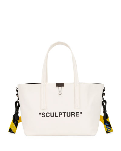 Canvas Sculpture Shopper Tote Bag