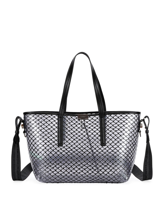 b3b9d7bafd80 Off-White PVC Net Shopper Tote Bag