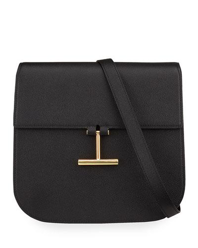 Tara Large Calf Grain Leather Shoulder Bag