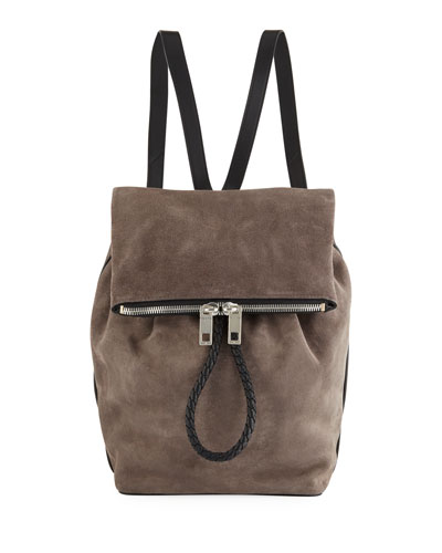 Loner Suede Two-Tone Backpack