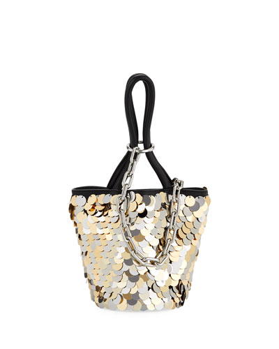 Roxy Mini Sequined Bucket Bag