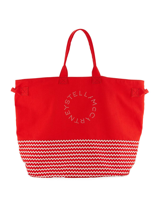 Stella McCartney Striped Large Beach Tote Bag  96379871fadb6