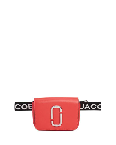 Hip Shot Fluoro Leather Belt Bag Fanny Pack