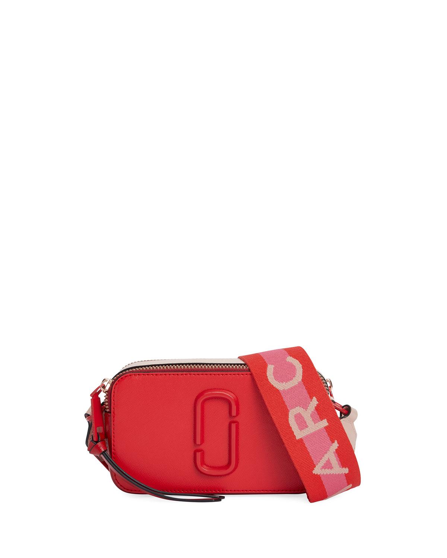 Marc Jacobs Snapshot Dual-Tone Leather Crossbody Camera Bag  0d2910e1d929c