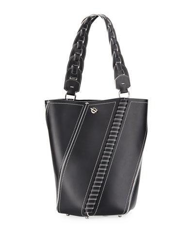 Hex Leather Medium Bucket Bag