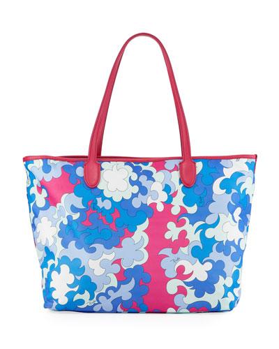 Printed Fabric Beach Tote Bag