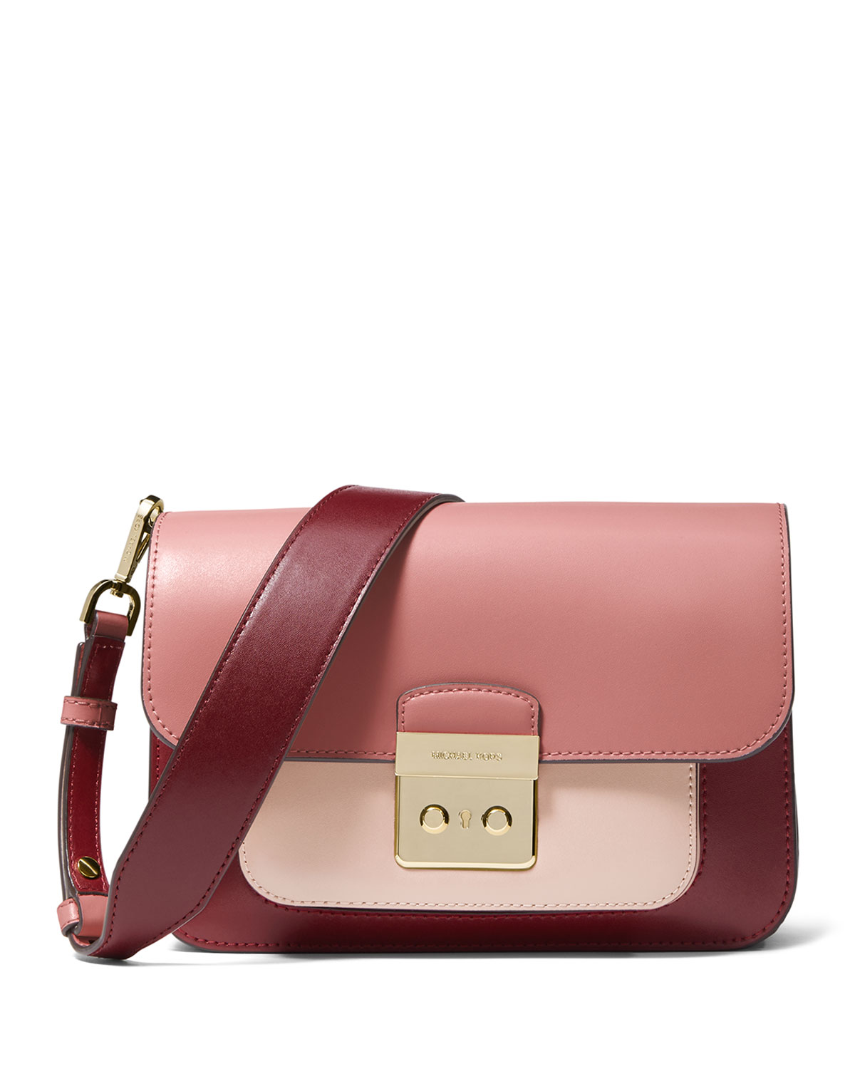 6ac264f3dc MICHAEL Michael Kors Sloan Editor Large Colorblock Leather Shoulder ...