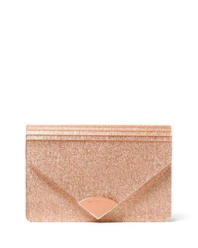 Barbara Medium Envelope Clutch Bag - Rose Hardware