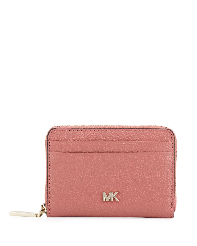69436b24828328 MICHAEL Michael Kors Money Pieces Leather Zip-Around Coin Purse/Card Case