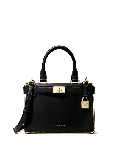 Michael Kors Tatiana Mini Leather Satchel Bag