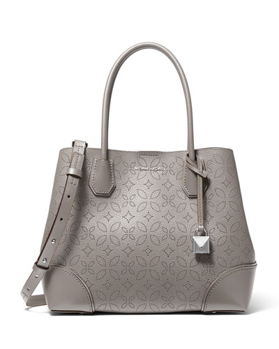 Michael Kors Mercer Gallery Medium Perforated Leather Tote Bag