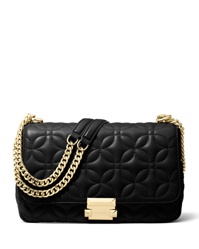 Sloan Large Quilted Leather Chain Shoulder Bag