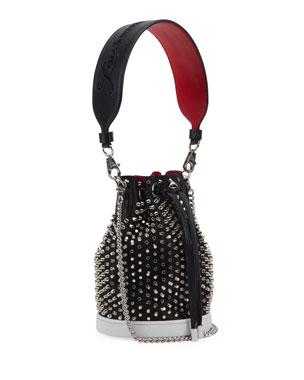 4b26f34364a6 Christian Louboutin Marie Jane Loubirun Bucket Bag with Spikes
