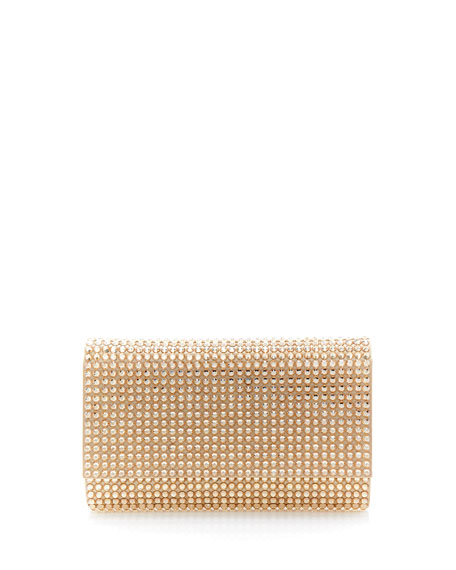 Judith Leiber Couture Fizzoni Bling Clutch Bag with Crossbody Strap