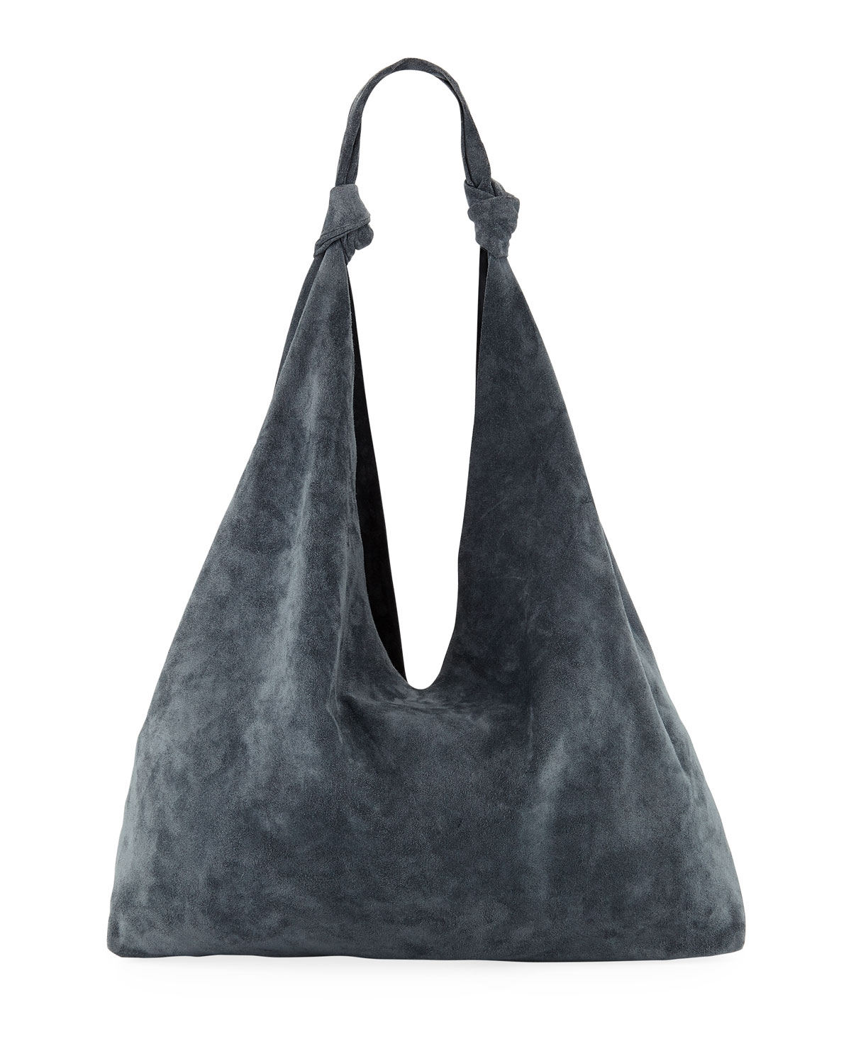 b17b02739f THE ROW Bindle Double-Knots Suede Hobo Bag