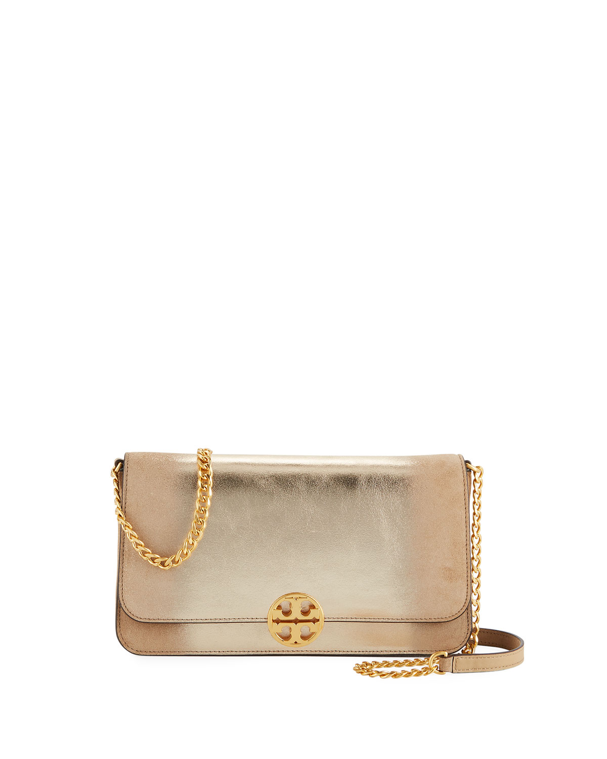 eef05e28db Tory Burch Chelsea Metallic Convertible Crossbody Bag