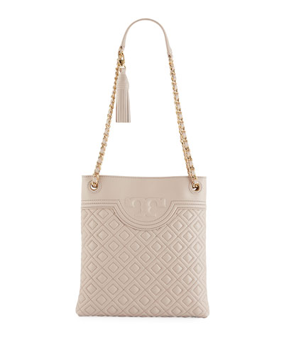 22d0e88af9f Tory Burch Fleming Diamond-Quilted Swing-Pack Tote Bag - Golden Hardware