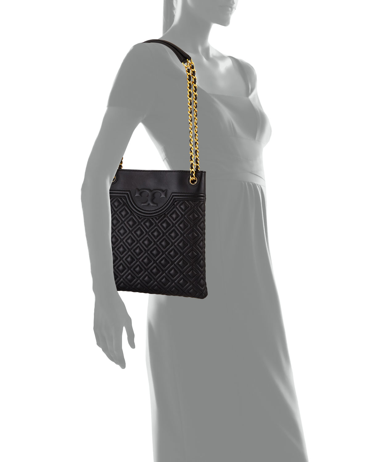 6dda3a624878 Tory Burch Fleming Diamond-Quilted Swing-Pack Tote Bag - Brass Hardware