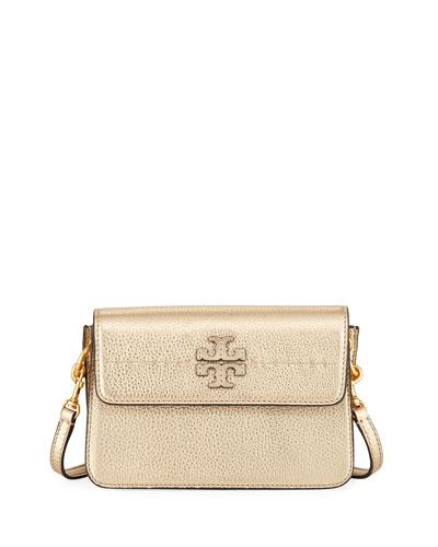 McGraw Metallic Leather Crossbody Bag