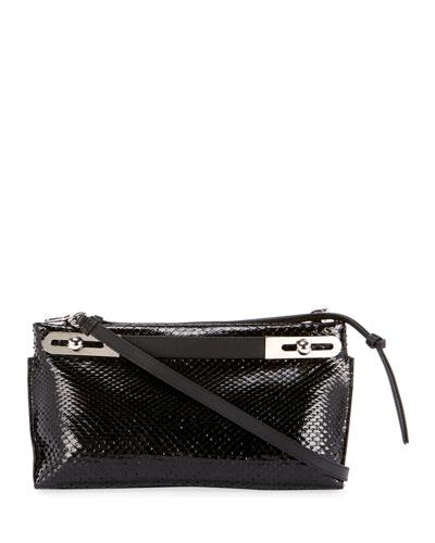 Missy Small Python Clutch Bag