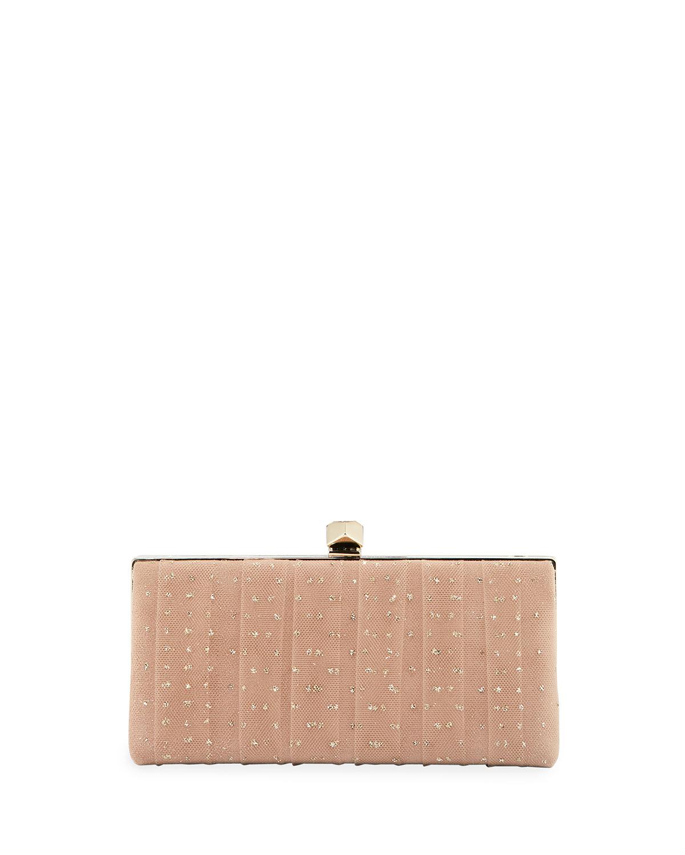 2a22274589 Jimmy Choo Celeste s Framed Glitter Tulle Clutch Bag