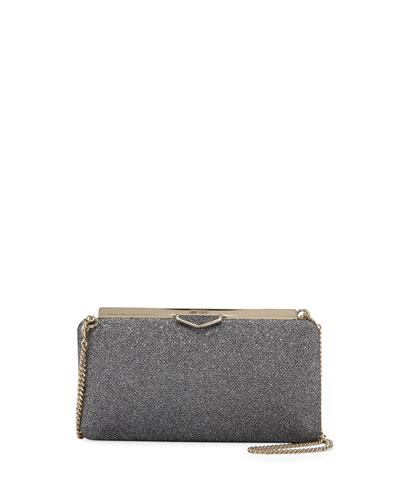 Ellipse Glitter Clutch Bag